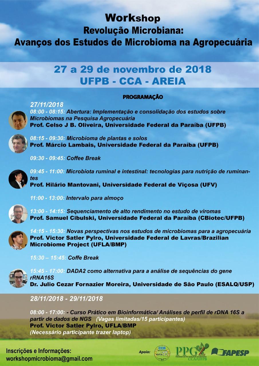 Workshop: revolução microbiana